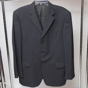 Burberry Three Button Blazer Size